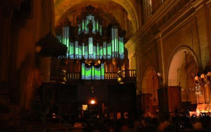 Organ vu-meter - עוגב עם חיווי של אקולייזר