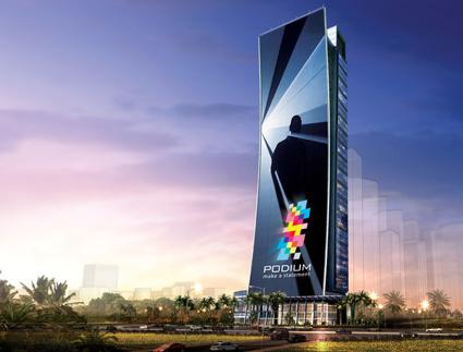 בניין הפודיום בדובאי יהיה מכוסה במסך LED בגובה 165 מטר