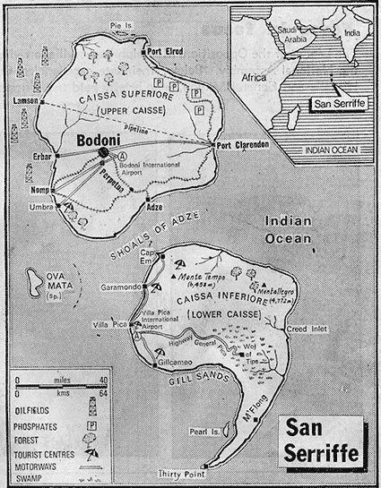 מפת סן סריף