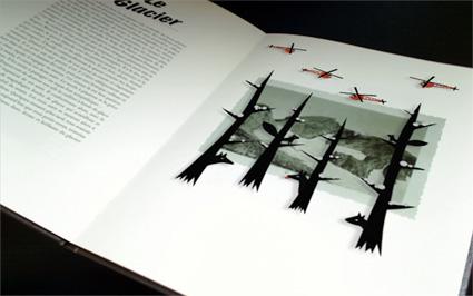 העולם של ההרים - אוגמנטציה משלבת אנימציה בין דפי הספר