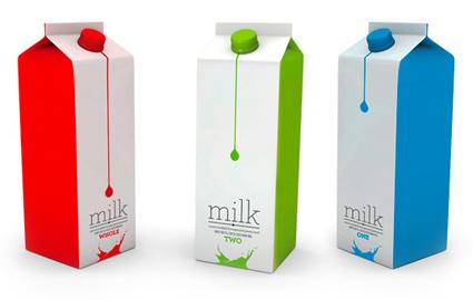 עיצוב אריזות חלב קונספטואליות