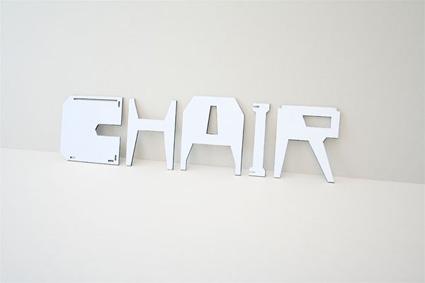 הכסא שמורכב מהמילה כסא