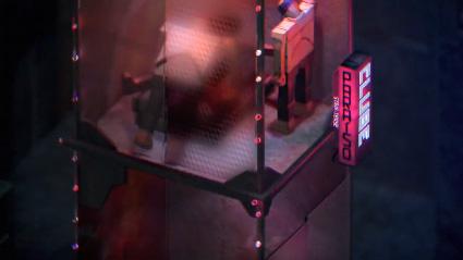 מבט על בניין איזומטרי מתוך הקליפ של נאסא