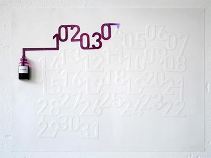 לוח הדיו של אוסקר דיאז - לוח שנה מבוסס ספיגת דיו