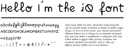 גופן ה-iQ של טויוטה