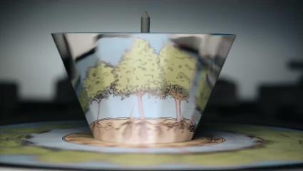 עצים צומחים על פרקסינוסקופ מתוך יש לנו זמן