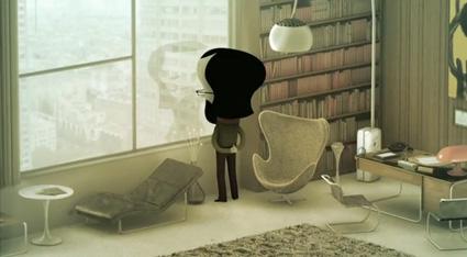 חדר הפסיכיאטר מתוך סרטון האנימציה הצרפתי Skhizein