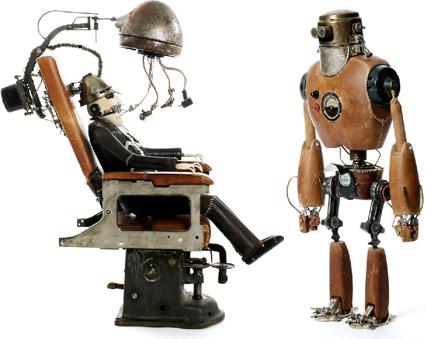רובוט העור ורופא השיניים - פסלים של סטפן הלאק