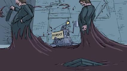 מתוך קליפ האנימציה Wail to God של אנתוני שפרד