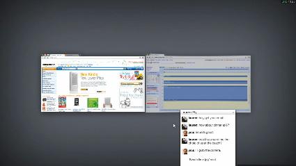 מעבר בין חלונות מתוך מערכת ההפעלה של גוגל