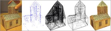 שלבי בניית מודל תלת מימדי עם מצלמת רשת