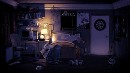 מחפשים מתחת למיטה בסרטון האנימציה התלת-מימדי The Dark