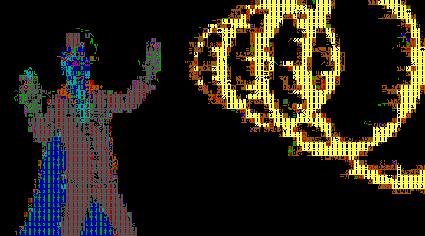 בירדי נאם-נאם כתווי אסקי ב-ASCIImeo