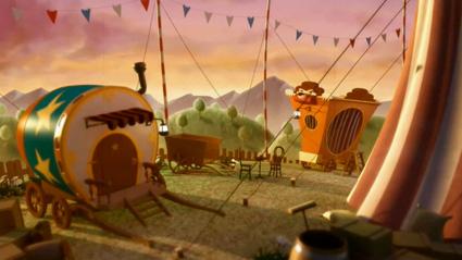 הקרקס של סרטון האנימציה התלת-מימדי Tachaaan