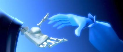 מפגש בסרטון האנימציה הספרדי הגברת ומלאך המוות