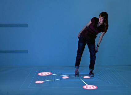 MultiToe - רצפה אינטראקטיבית עם יכולות מולטי-טאצ