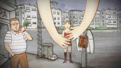 שיחת טלפון בסרטון האנימציה יקטרינה הגדולה של אנה קונצמן