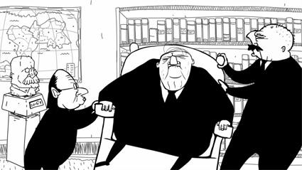 מתוך סרטון האנימציה הכסא הריק של צח כהן