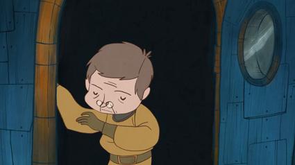 הפסיכולוג מרחף לעולם אחר בסרטון האנימציה דוקטור דג