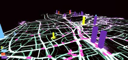 24 שעות של תנועה בתל אביב לפי Waze